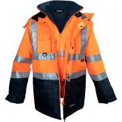 Kurtka ostrzegawcza 5w1 pomarańczowa Vizwell VWJK44ON