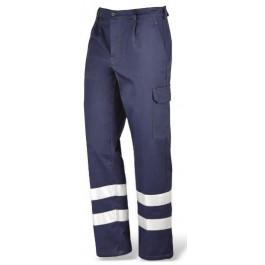 Spodnie robocze SUPER/BLU HV z bawełny z elementami ostrzegawczymi Greenbay 435230