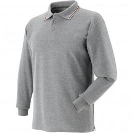 Koszulka polo z długimi rękawami szara Greenbay 471057