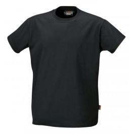 T-shirt bawełniany czarny Beta 7548N
