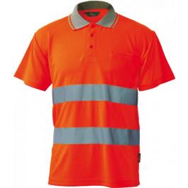 Koszulka polo ostrzegawcza o intensywnej widzialności pomarańczowa Vizwell VWPS01-BO