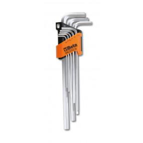 Komplet 8 kluczy trzpieniowych długich kątowych sześciokątnych Beta 96LC/SC8 - rozmiary: 2-10mm