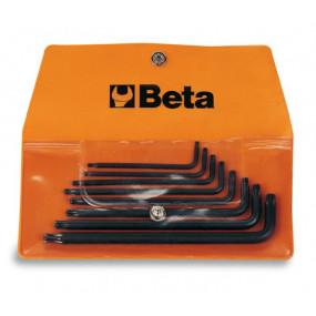 Komplet 8 kluczy trzpieniowych kątowych profil Tamper Resitant Torx Beta 97RTX/B8 - rozmiary: T9-T40