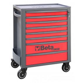 Wózek narzędziowy pusty z 8 szufladami czerwono-szary Beta 2400/RSC24/8-R