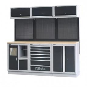 Zestaw mebli warsztatowych system C45 Beta 4500/C45/AW