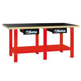 Stół warsztatowy z drewnianym blatem Beta 5600/C56WR