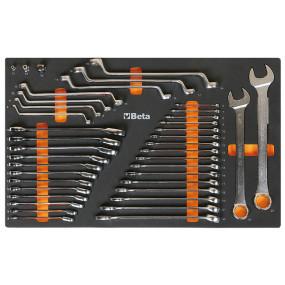 Zestaw 40 narzędzi w miękkim wkładzie profilowanym Beta 2450/M25
