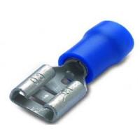 Nasuwki izolowane 25szt. z antywibracyjną tulejką miedzianą 2.5-6.3/0.8 PVC BM Group 00290S2 - zakres: 1.5-2.5mm2