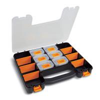 Walizka z zestawem 6 pojemników na drobne elementy i regulowanymi przegródkami Beta 2080/V6