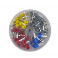 Zestaw 100 końcówek tulejkowych izolowanych pojedynczy kabel BM Group 00422 - przekrój: 4-16mm2