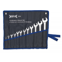 Zestaw 12 kluczy płasko-oczkowych BM Group 1650 - rozmiary: 6-22mm