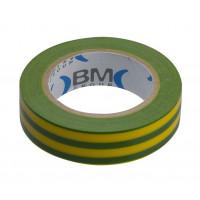 Taśma elektroizolacyjna (10 szt.) 15mmx10m żółto-zielona BM Group ESB1510GV