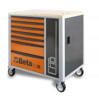 Wózek narzędziowy z 7 szufladami i szafką Beta C24SL-CABO