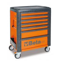 Wózek narzędziowy C33 pomarańczowy z zestawem 215 narzędzi Beta 3300C7/M7/O