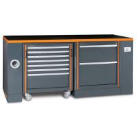 Zestaw stołu warsztatowego z dodatkowym wyposażeniem, modułu stałego i wózka narzędziowego Beta C55-PRO/3