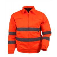 Kurtka robocza ostrzegawcza robocza pomarańczowa Vizwell VWTC06O