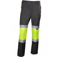 Spodnie robocze softshell o intensywnej widoczności VWJK425YG