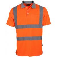 Koszulka polo ostrzegawcza pomarańczowa Vizwell VWPS03-BO