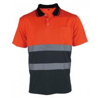 Koszulka polo ostrzegawcza pomarańczowa Vizwell VWPS13ON