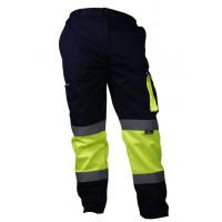 Spodnie ostrzegawcze do pasa żółto-granatowe Vizwell VWTC17YN