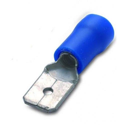 Wsuwki izolowane z antywibracyjną tulejką miedzianą niebieską PVC 100szt. BM Group 00280 - przekrój: 1.5-2.5mm2