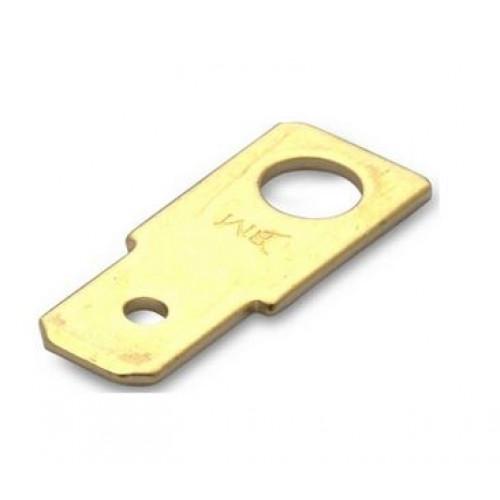 Wsuwki nieizolowane mosiężne przykręcane 100szt. BM Group 01002 - do wsuwki: 6.3x0.8mm