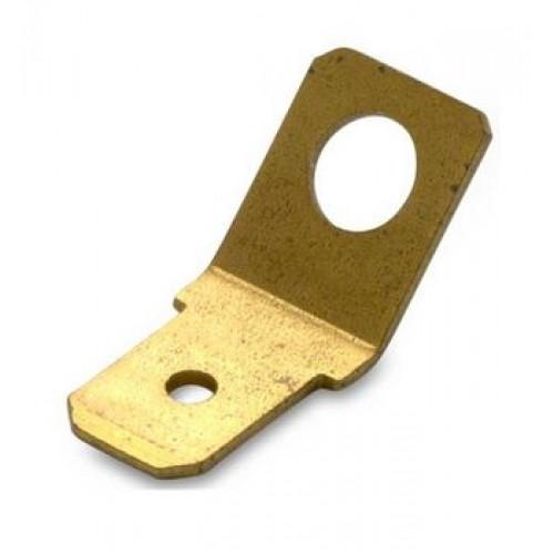 Wsuwki nieizolowane 45DEG mosiężne przykręcane 100szt. BM Group 01005 - do wsuwki: 6.3x0.8mm