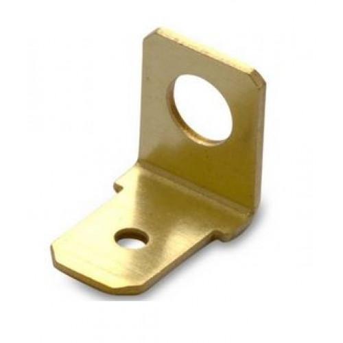 Wsuwki nieizolowane 90DEG mosiężne przykręcane 100szt. BM Group 01009 - do wsuwki: 6.3x0.8mm