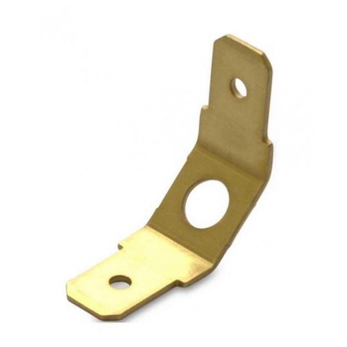 Wsuwki podwójne nieizolowane 45DEG mosiężne przykręcane 100szt. BM Group 01013 - do wsuwki: 6.3x0.8mm