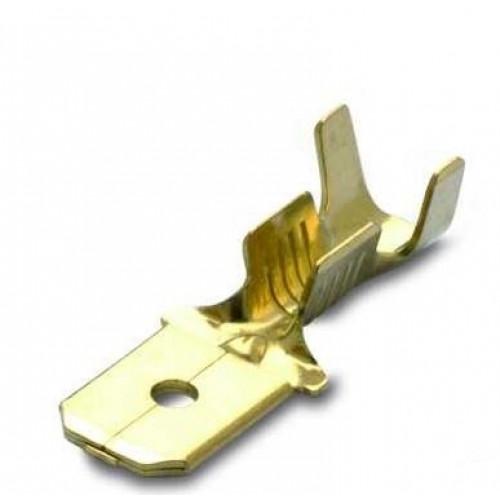Wsuwki nieizolowane mosiężne 1.0-2.5mm2 męskie 200szt. BM Group 01280 - do wsuwki: 6.3x0.8mm