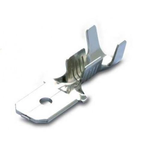 Wsuwki nieizolowane mosiężne cynowane 0.5-1mm2 męskie 200szt. BM Group 01181 - do wsuwki: 6.3x0.8mm