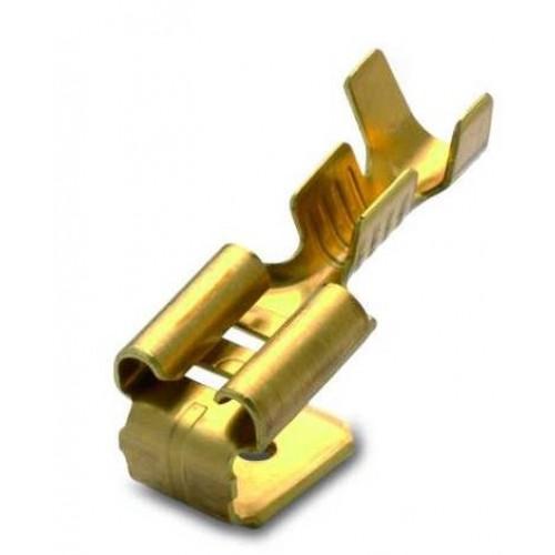 Nasuwki i wsuwki nieizolowane 0.5-1mm2 mosiężne 100szt. BM Group 01198 – do wsuwki: 6.3x0.8mm