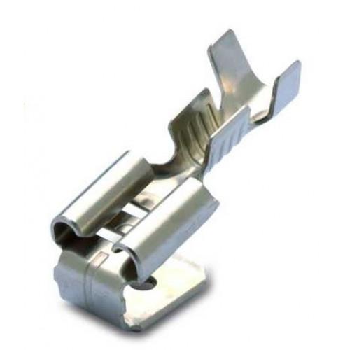 Nasuwki i wsuwki nieizolowane 0.5-1mm2 mosiężne cynowane 100szt. BM Group 01199 – do wsuwki: 6.3x0.8mm