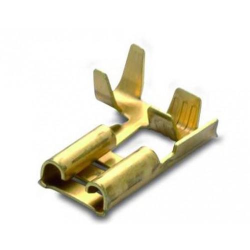 Nasuwki nieizolowane 25 sztuk kątowe 90° z mosiądzu 2.5-6.3/0.8 BM Group BM01295S - zakres: 1.5-2.5mm2