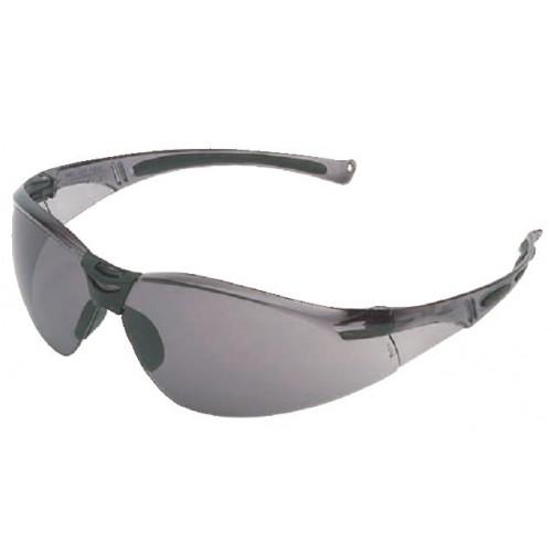 Okulary ochronne z szarą soczewką i szarą oprawką Beta A800