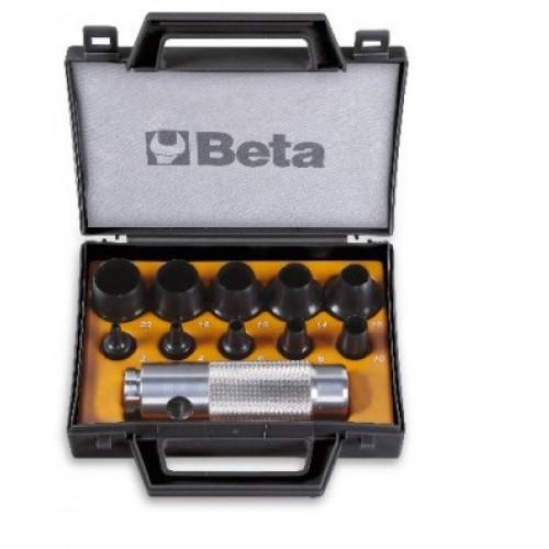 Zestaw 10 wycinaków rymarskich i rękojeści w pudełku Beta 1105/C10T