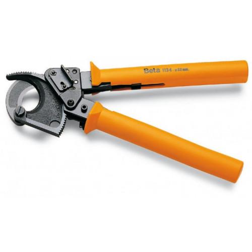 Nożyce z mechanizmem zapadkowym do cięcia kabli Beta 1134
