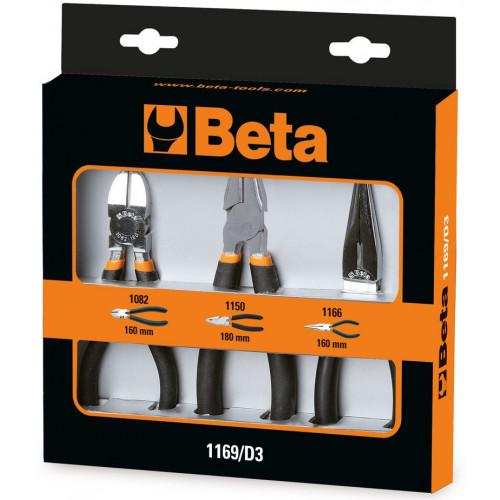 Zestaw 3 szczypiec w opakowaniu Beta 1169/D3