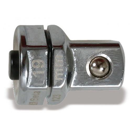 Uchwyt przejściowy z blokadą do nasadek 1/2'' do klucza oczkowego 19mm Beta 123Q1/2