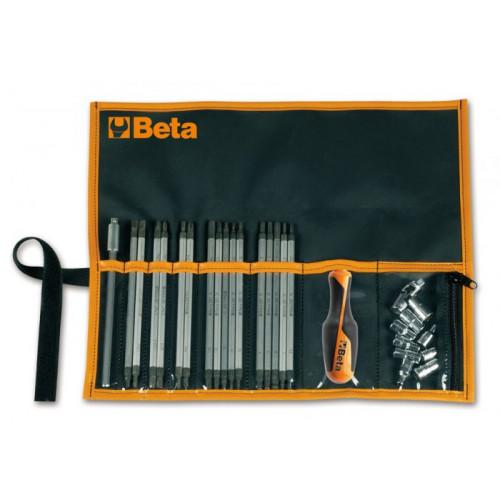 Zestaw 16 grotów i 9 nasadek wraz z akcesoriami Beta 1281BG/B28A