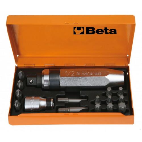 Zestaw wkrętak udarowy z akcesoriami Beta 1295/C14