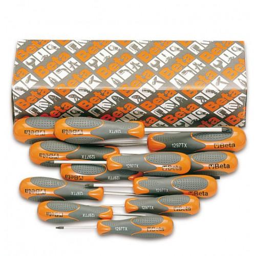 Komplet 12 wkrętaków Betamax profil Torx Beta 1297TX/S12