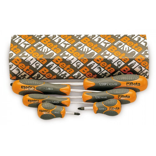 Komplet wkrętaków krzyżowych Betamax profil Pozidriv®-Supadriv® Beta 1299PZ/S6