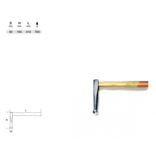 Młotek blacharski Beta 1365 - rozmiar: 310 mm