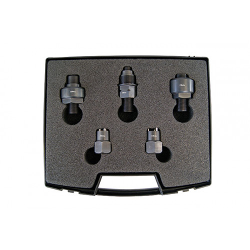 Komplet adapterów przeznaczonych do demontażu wtryskiwaczy Siemens oraz Denso Beta 1462AD/SMN