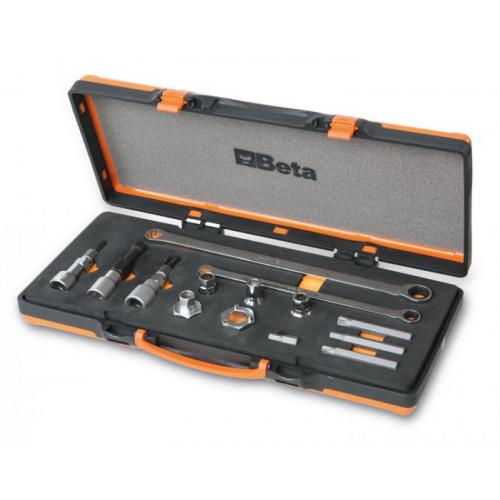 Zestaw 14 narzędzi do demontażu koła pasowego alternatora Beta 1489/C14