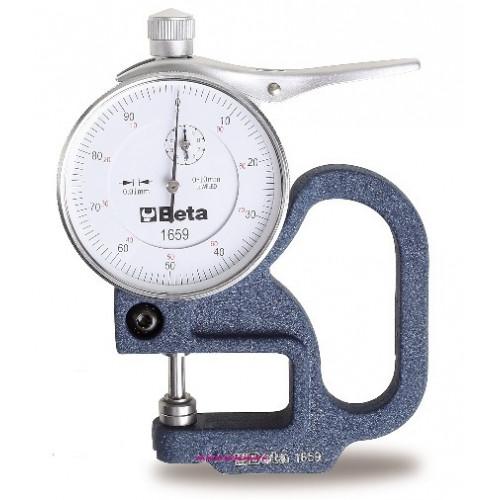 Grubościomierz z czujnikiem zegarowym Beta 1659 - zakres: 0-10 mm