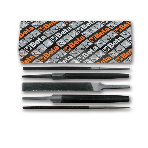 Komplet 5 pilników półgładzików 10''-250mm bez rękojeści Beta 1718A10/S5