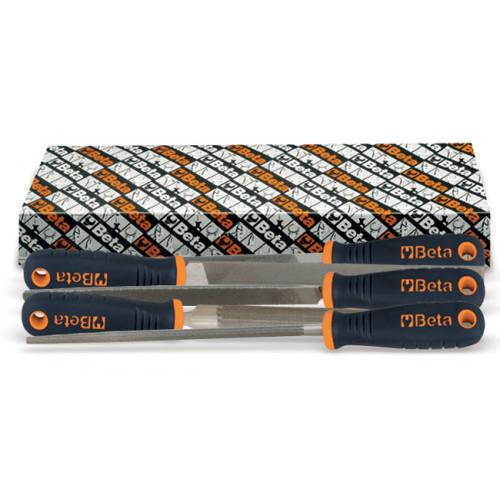 """Komplet pilników 10""""-200 mm półgładzików z rękojeścią Beta 1719BMA10/S5"""