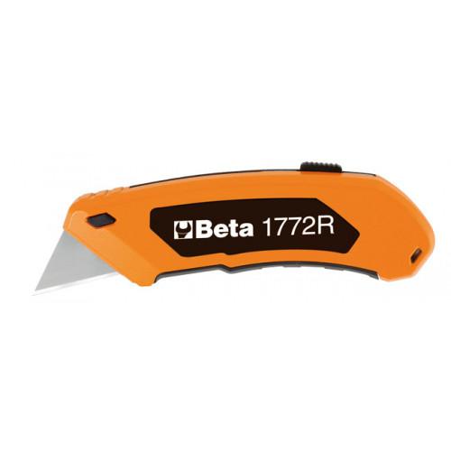 Nóż z ostrzem trapezowym chowanym Beta 1772R